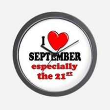 September 21st Wall Clock