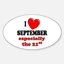 September 21st Oval Decal