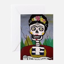 Cute Mexican sugar skulls Greeting Card