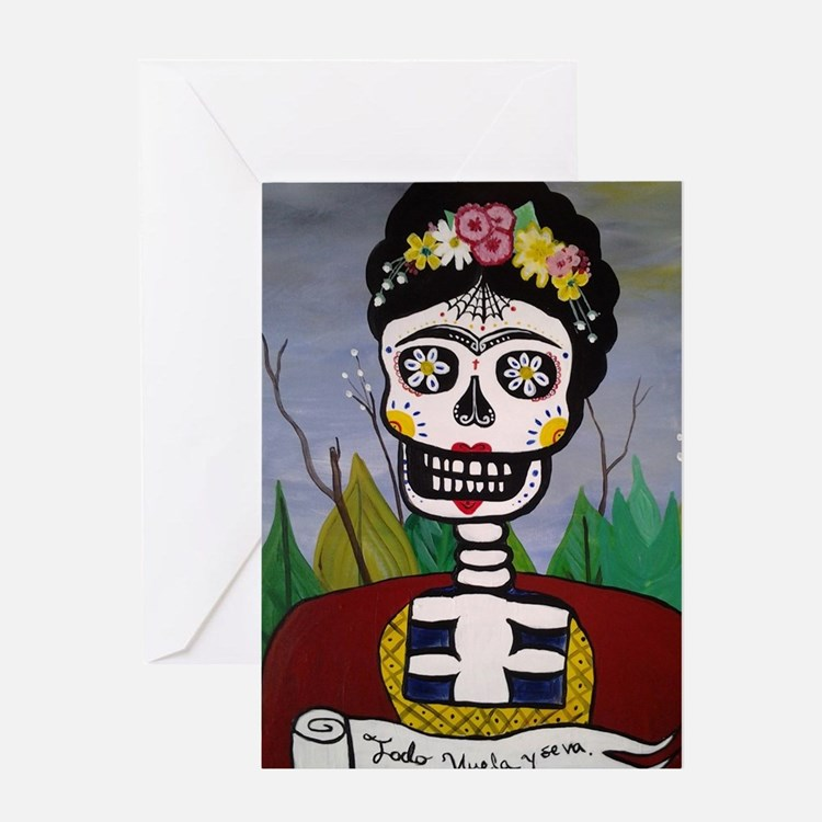 Cute Calavera Greeting Card