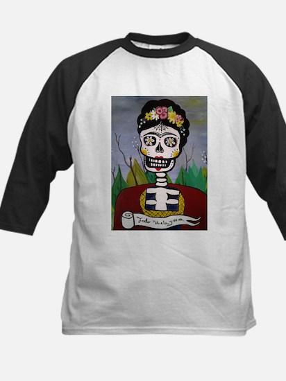 Frida's Dia De Los Muertos Baseball Jersey