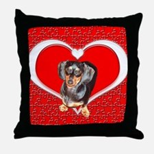 Black Doxies Love Throw Pillow