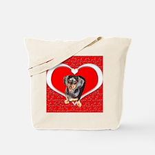 Black Doxies Love Tote Bag