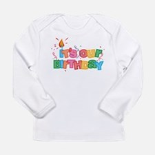 It's Our Birthday Lette Infant Long Sleeve T-S