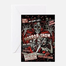 Horror Movie Monsters Spook Show Greeting Card