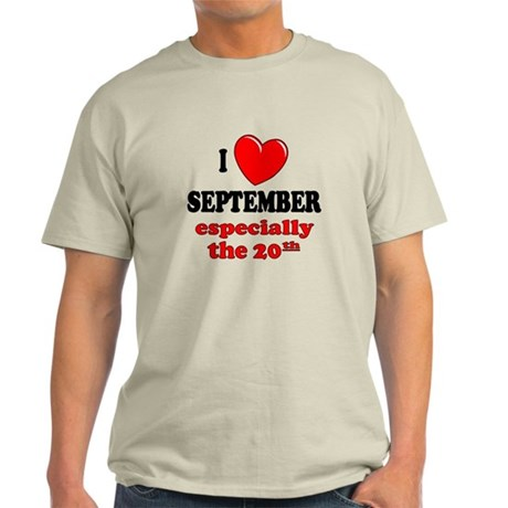 September 20th Light T-Shirt
