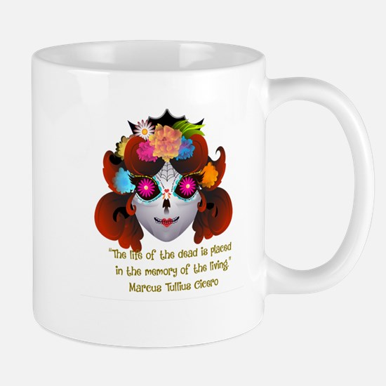 Sugar Skull with Quote Mugs