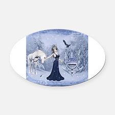 Cute Elsa Oval Car Magnet