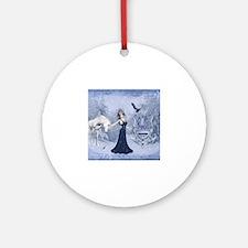 Cute Elsa Round Ornament