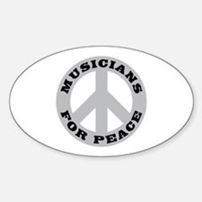 Musicians For Peace Oval Decal