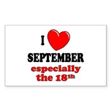 September 18th Rectangle Decal