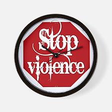 Stop Violence Wall Clock