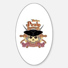 Cool Walk the plank Sticker (Oval)