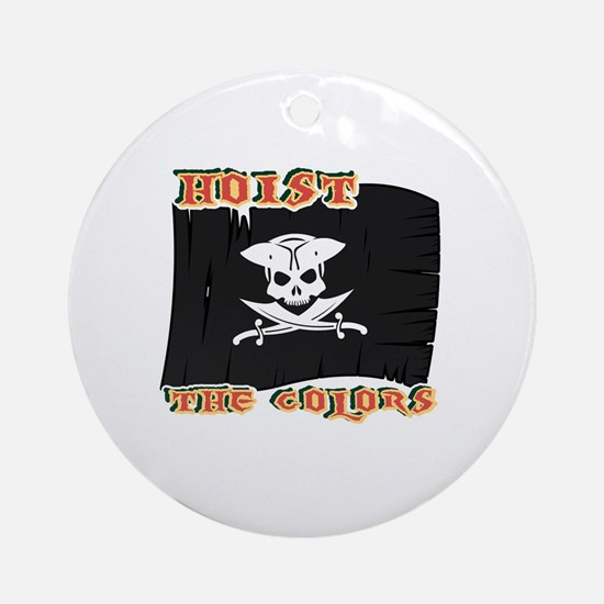 Funny Walk the plank Round Ornament