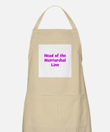 Head of the Matriarchal Line BBQ Apron