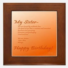 Special Sister Birthday Treasure Memor Framed Tile