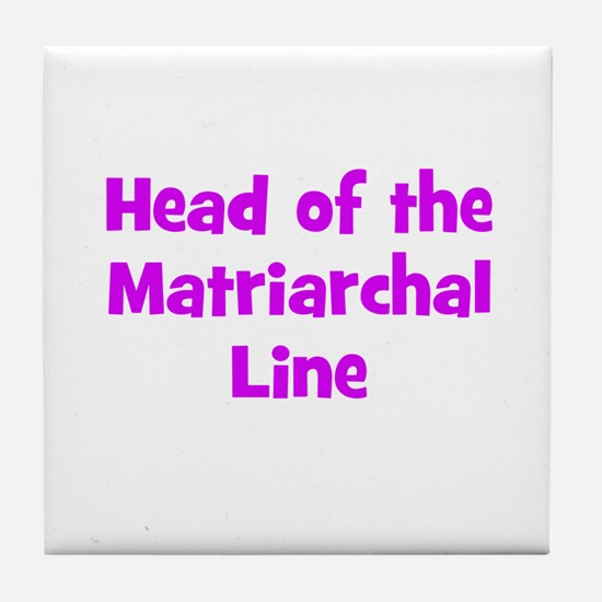 Head of the Matriarchal Line Tile Coaster