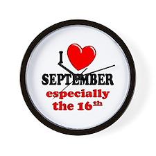 September 16th Wall Clock
