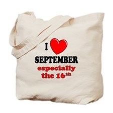 September 16th Tote Bag
