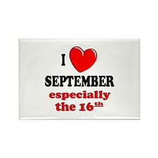 September 16th Rectangle Magnet
