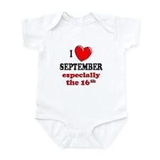 September 16th Infant Bodysuit