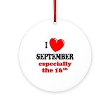 September 16th Ornament (Round)
