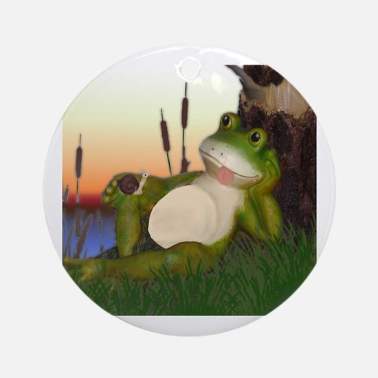 Cute Toad Round Ornament