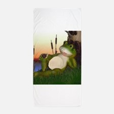 The Frog and Snail Beach Towel
