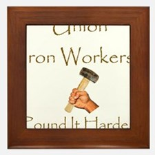 Iron Workers Humor Framed Tile