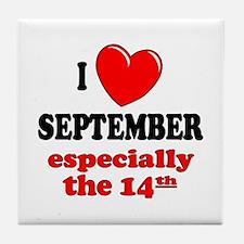 September 14th Tile Coaster