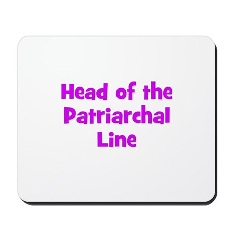 Head of the Patriarchal Line Mousepad