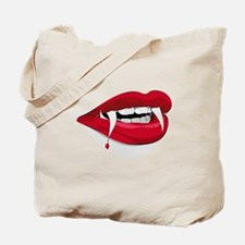 Halloween Vampire Teeth Tote Bag