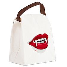 Halloween Vampire Teeth Canvas Lunch Bag