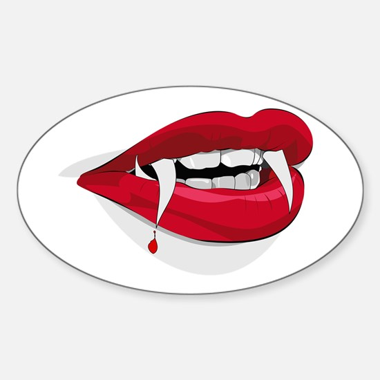 Halloween Vampire Teeth Decal
