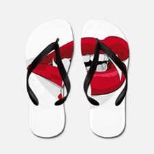 Halloween Vampire Teeth Flip Flops