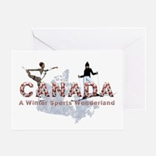 Canada Winter Sports Card Greeting Cards