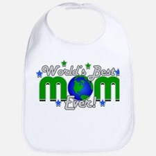World's Best Mom Ever Personalized Bib