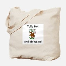 Tally Ho! Fox Hunting on Horseback Tote Bag