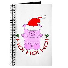 Cartoon Pig Santa Journal