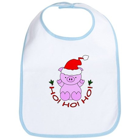 Cartoon Pig Santa Bib