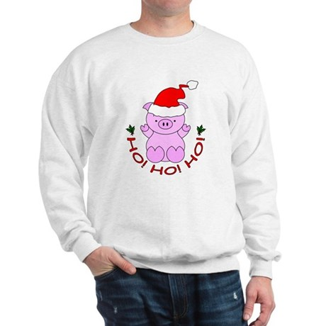 Cartoon Pig Santa Sweatshirt