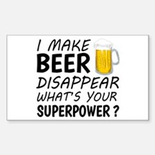I Make Beer Disappear Decal