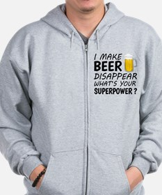 I Make Beer Disappear Zip Hoody