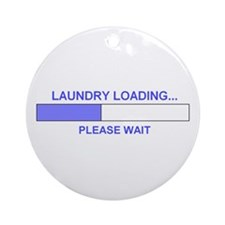 Cute Laundry room Ornament (Round)