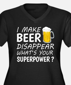 I Make Beer Disappear Plus Size T-Shirt
