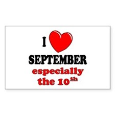 September 10th Rectangle Decal