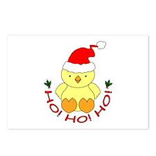 Cartoon Chicken Santa Postcards (Package of 8)