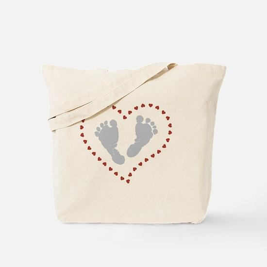Funny Footprint Tote Bag