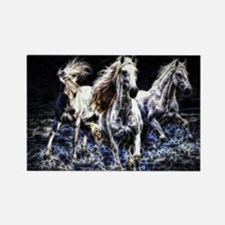 Cute White stallion Rectangle Magnet