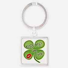 Cute Irish baby Square Keychain
